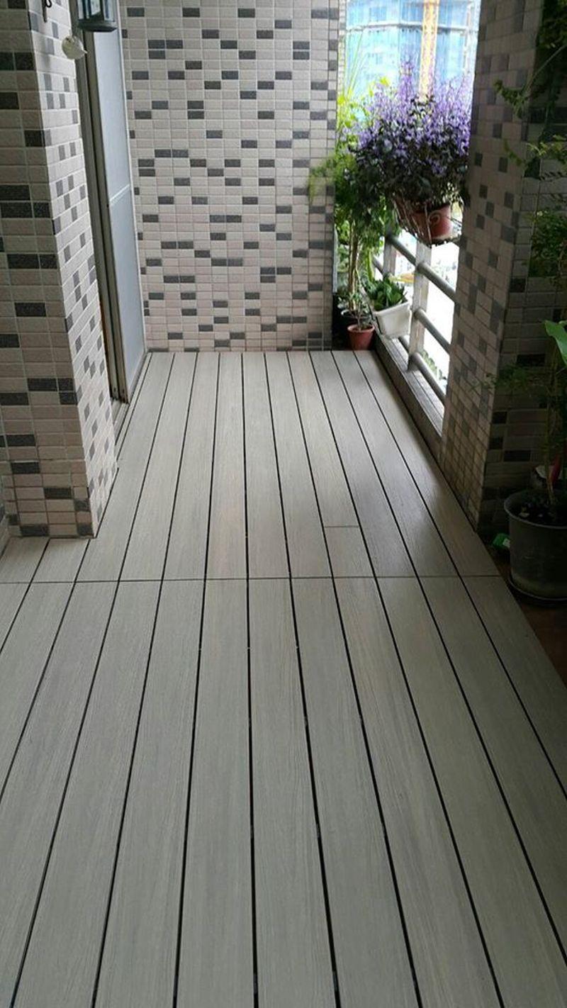 綠建材-塑木-古木色-不鏽鋼骨架-陽台-露台-景美-植栽-設計-落水頭-活動蓋