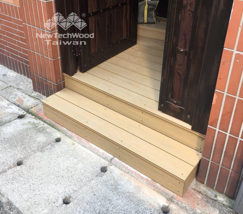 橡木色塑木平台