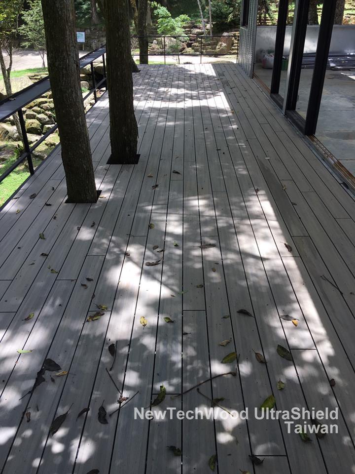 綠建材-塑木-古木色-不鏽鋼骨架-露臺-樹穴-景觀設計-防潮-耐候-熊空休閒茶園