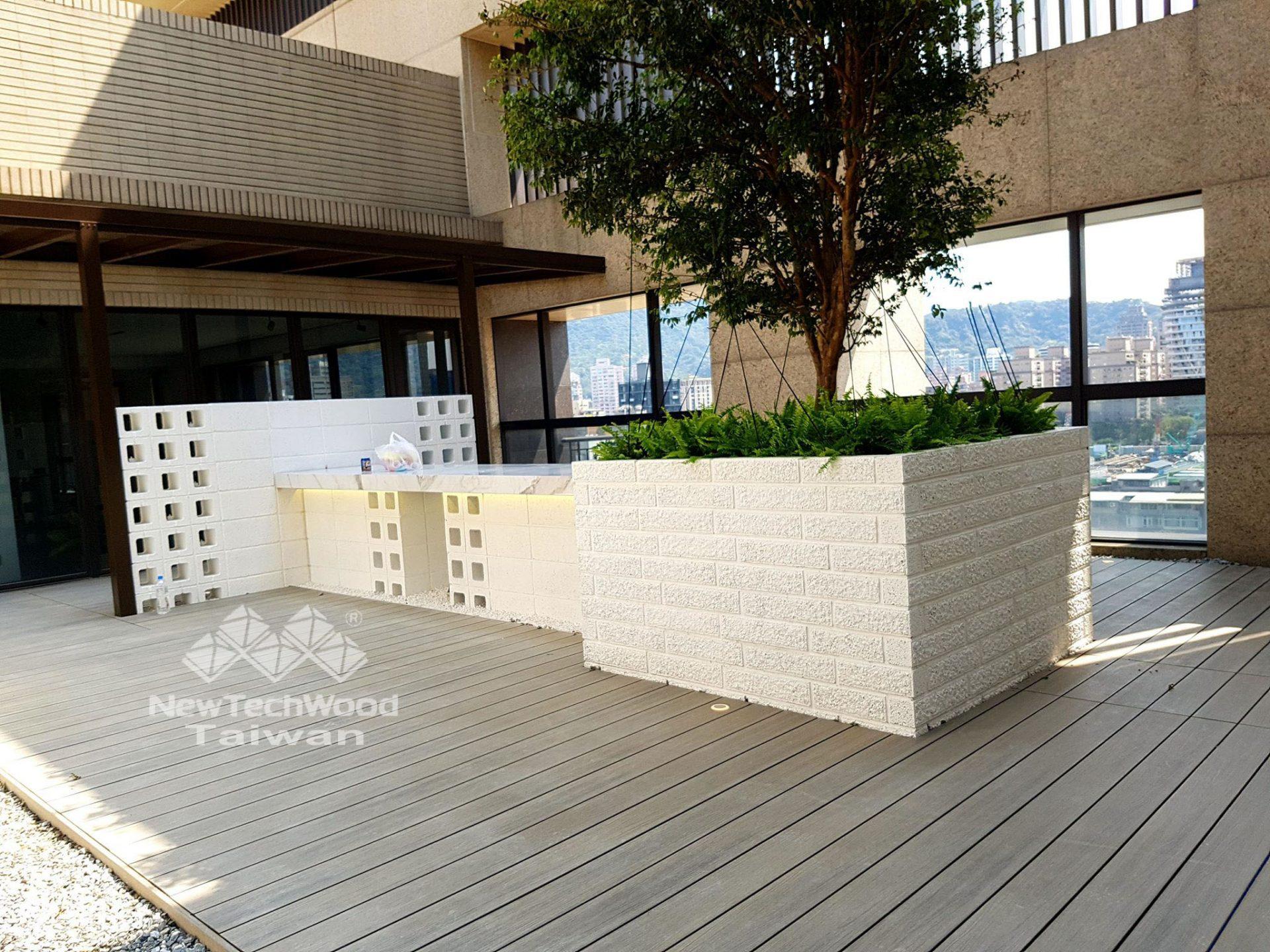 綠建材-塑木-活動平台-景觀設計-古木色-禾舍