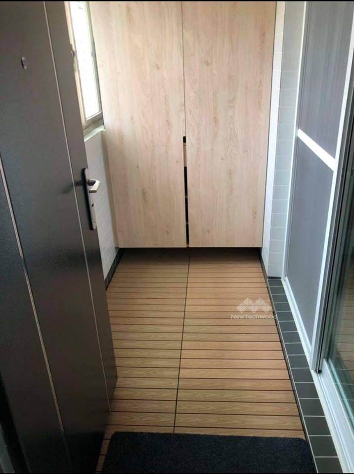 塑木-快組-簡易拼裝-玄關-楓木色