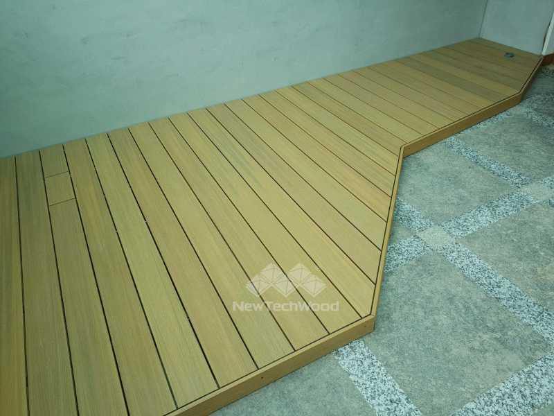 綠建材-塑木-活動平台-多邊形-橡木色