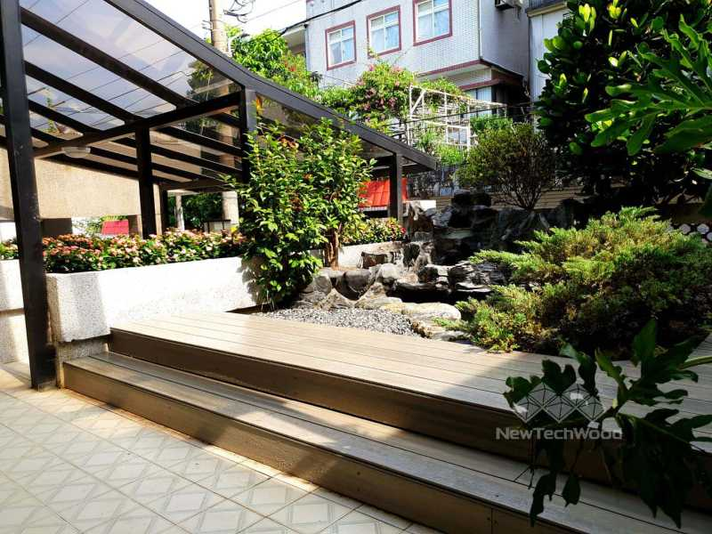 綠建材-塑木-活動平台-古木色-景觀設計-花園-禾舍