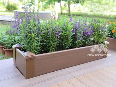 美新塑木花箱