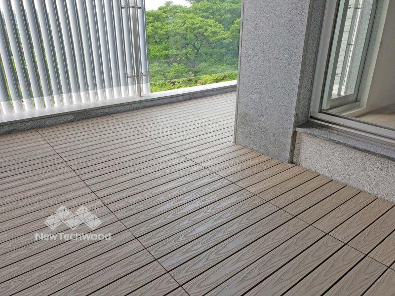 塑木-快組-巧拼地板-簡易拼裝-古木色-30*60-陽台-露台