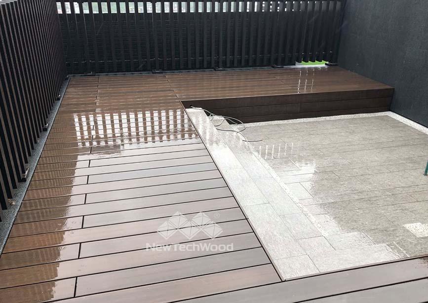 屋頂平台-水管遮蔽