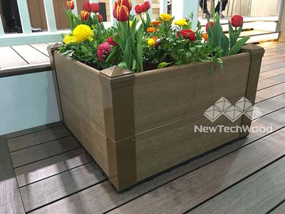 塑木組合雙層花箱