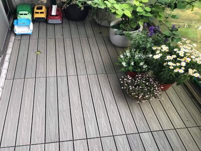 陽台-塑木快組地板案例