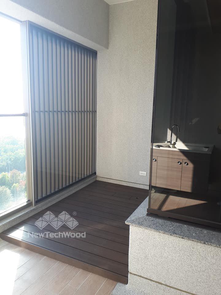 綠建材-塑木-胡桃木色-室內-設計-景觀-浴室平台-防水-防滑-防黴