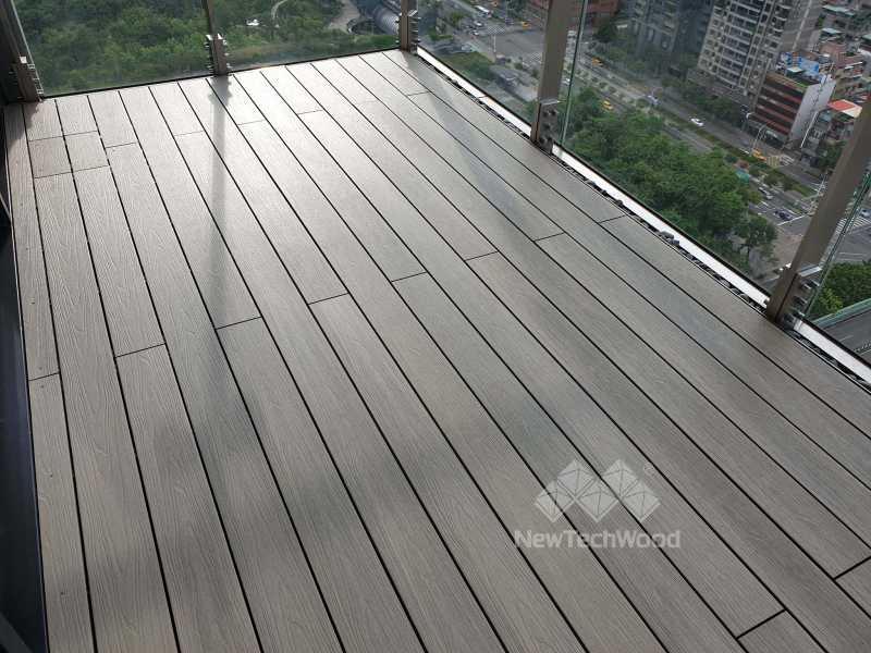 綠建材-塑木-古木色-陽台-露台-翔協室內裝修-信義聯勤