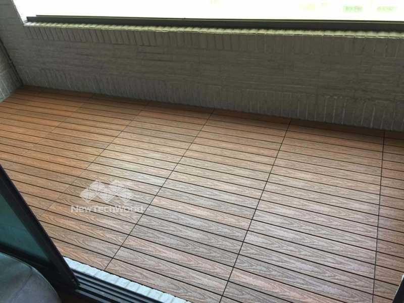 塑木-快組-巧拼地板-簡易拼裝-柚木色-30*60-陽台-露台-防水-防滑-防黴-高雄