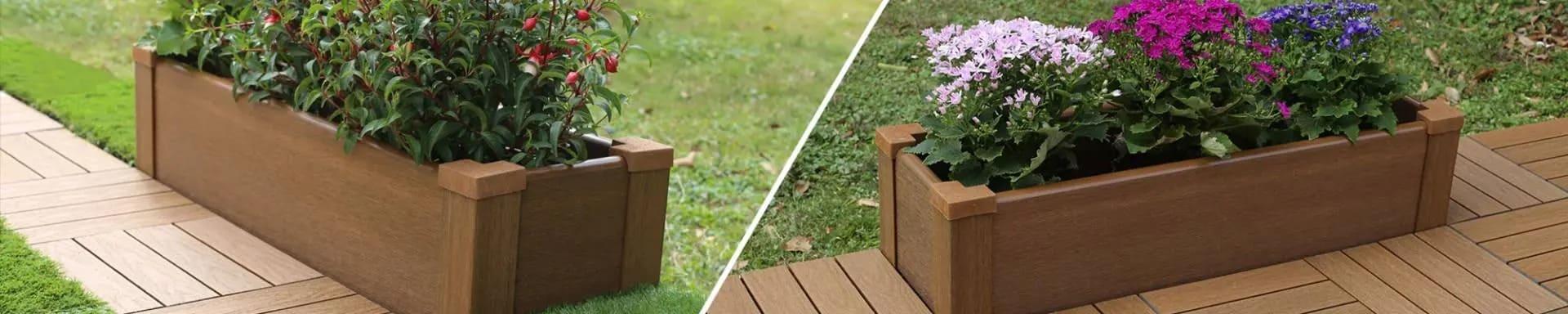 美新塑木組合花箱