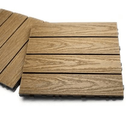 美新塑木快組地板