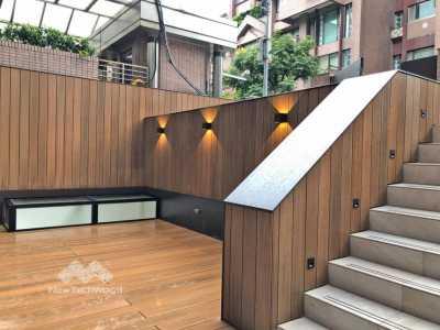 美新塑木-柚木牆板立面