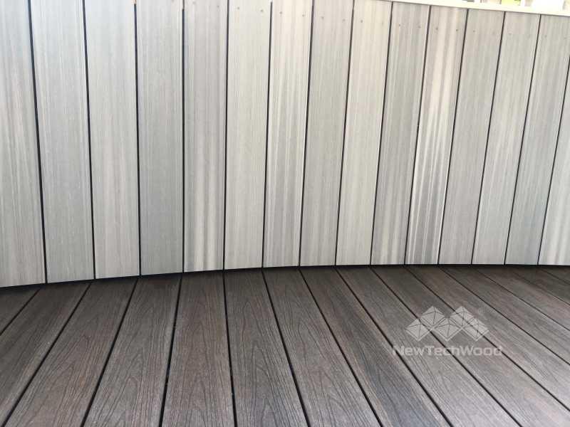 弧形塑木牆板