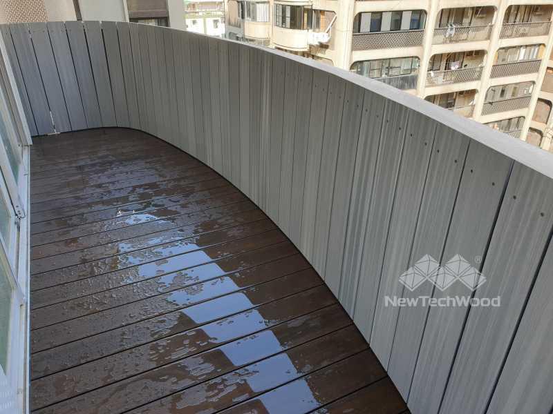 白色塑木牆板