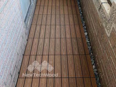 塑木快組地板-柚木色