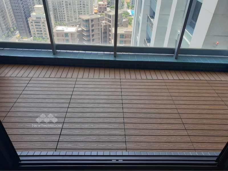 微梯形陽台-快組地板面改向不違和