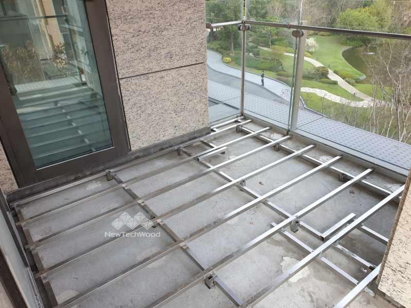 塑木地板-不銹鋼骨架-joist
