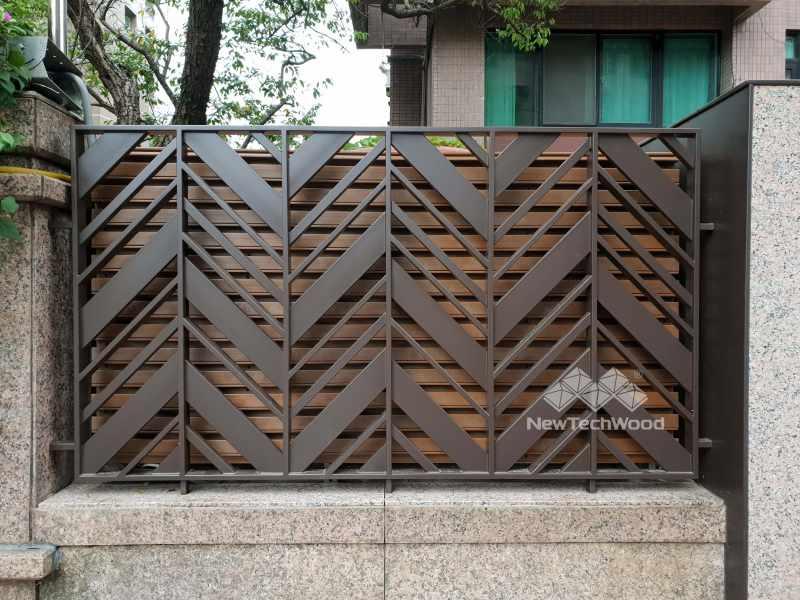 塑木透氣遮蔽格柵