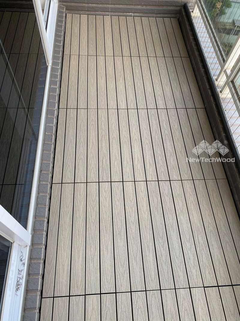 美新塑木-快組地板安裝完成