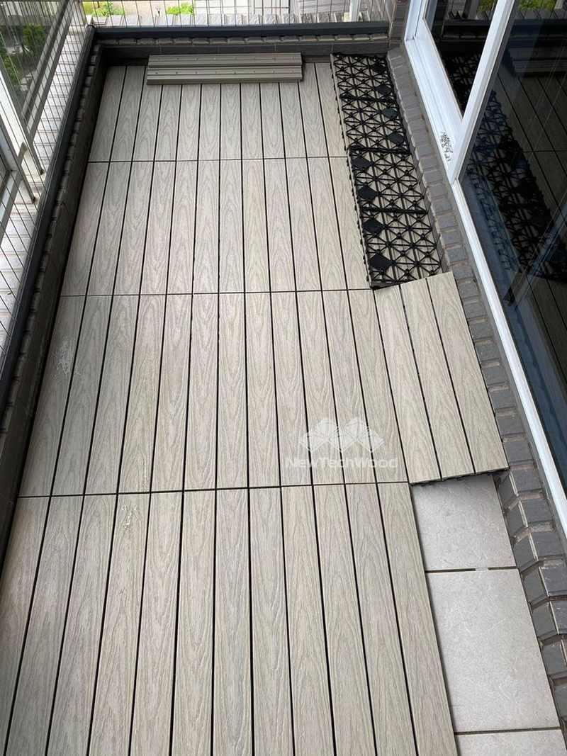 美新塑木-快組地板安裝