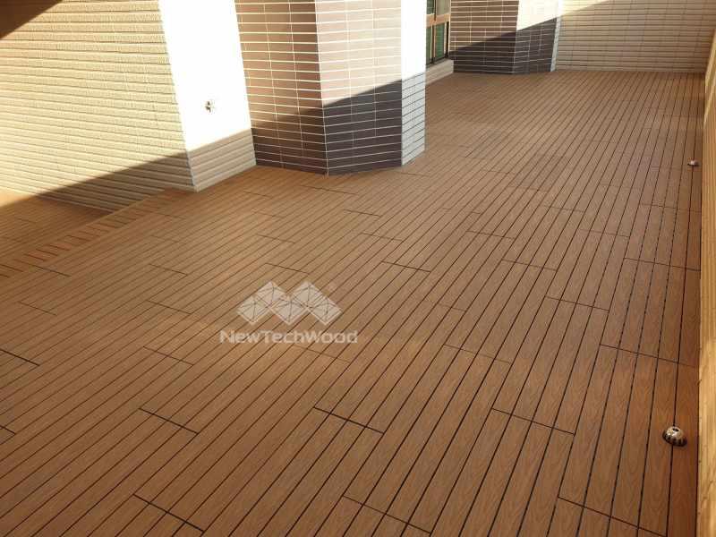 柚木快組地板-陽光露台
