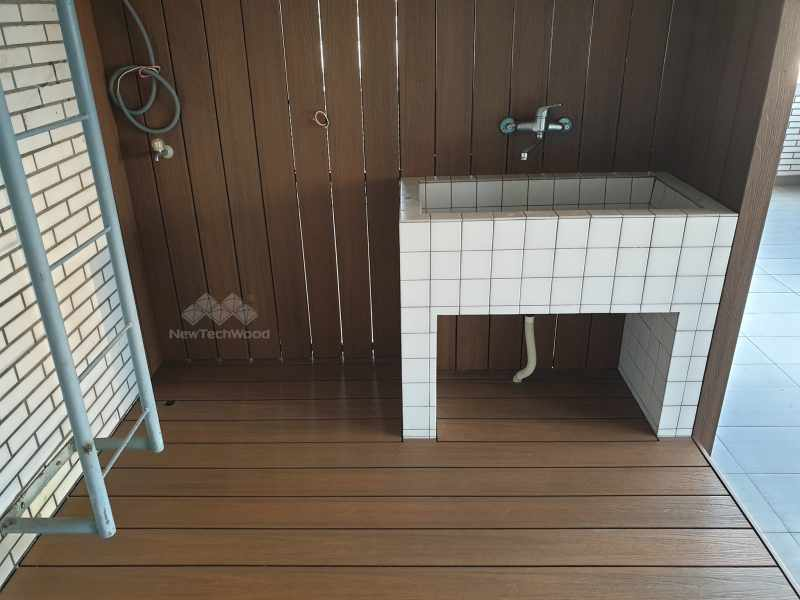 美新塑木洗曬衣空間更新後
