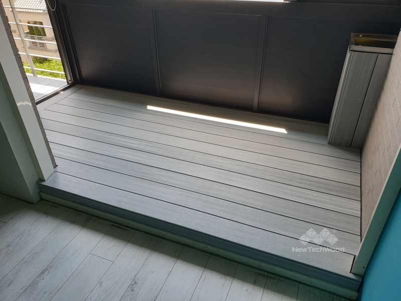 陽台白色塑木-室內白色地板