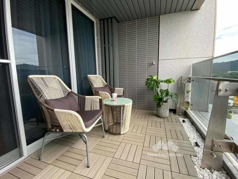 休閒感陽台設計-景觀家具-植