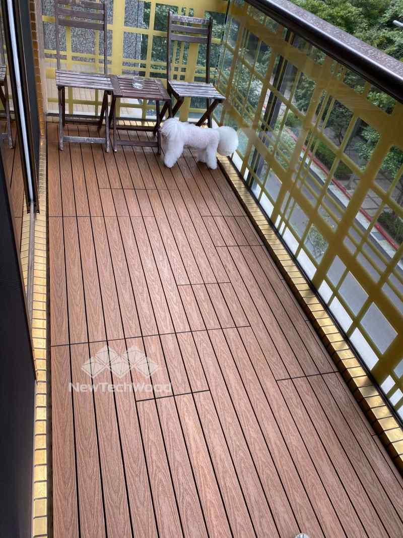 陽台快組地板-非規律式拼法