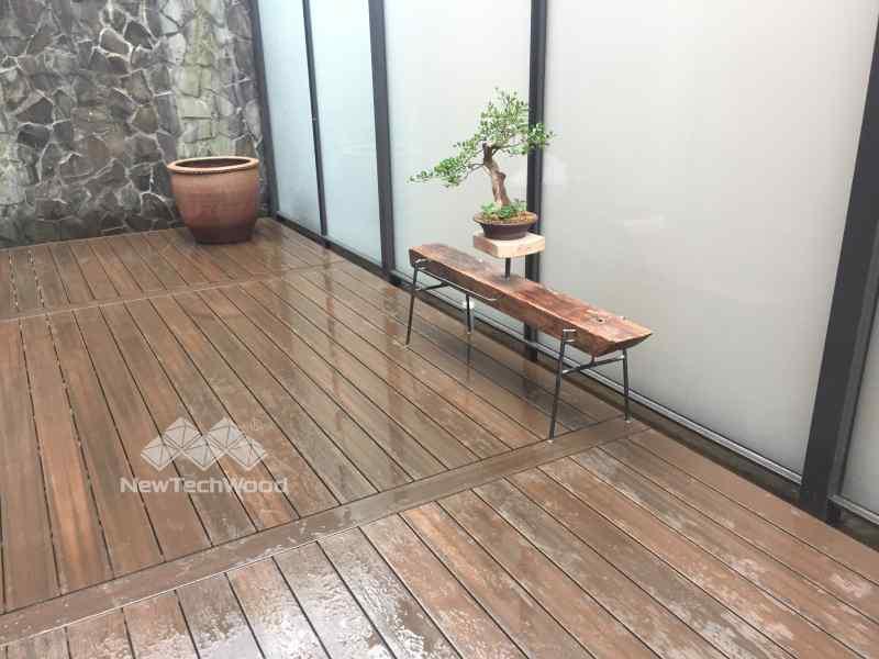 園設計-木平台與盆景