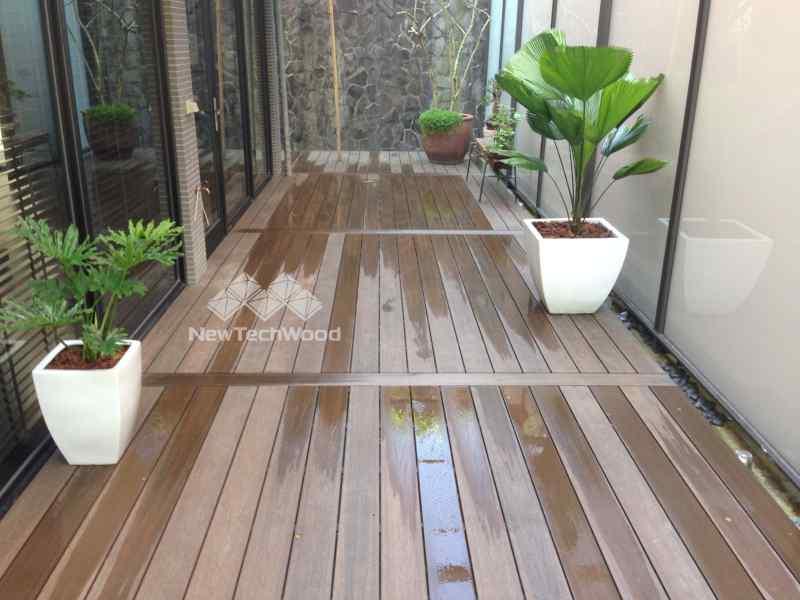 庭園設計-木平台與盆栽