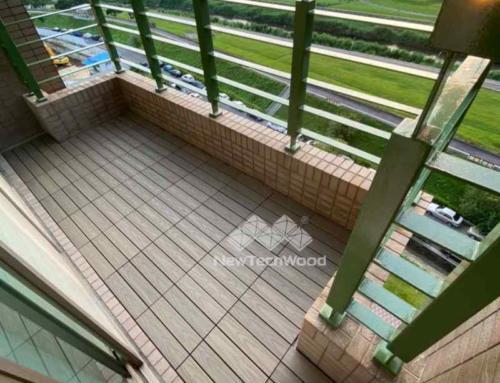 河景陽台-快組塑木地板規劃協助