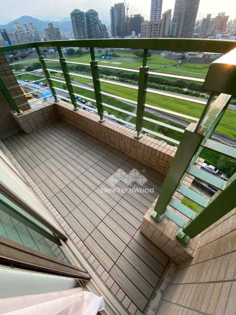 河邊景觀陽台-快組地板