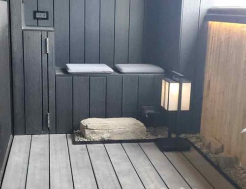 景觀陽台設計-炭黑與淺灰的浪漫組曲