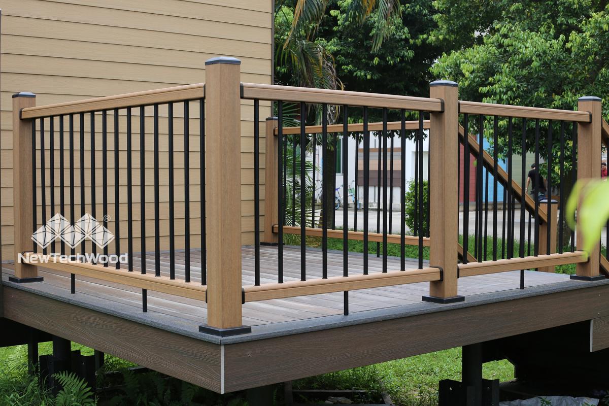 美新塑木系統欄杆