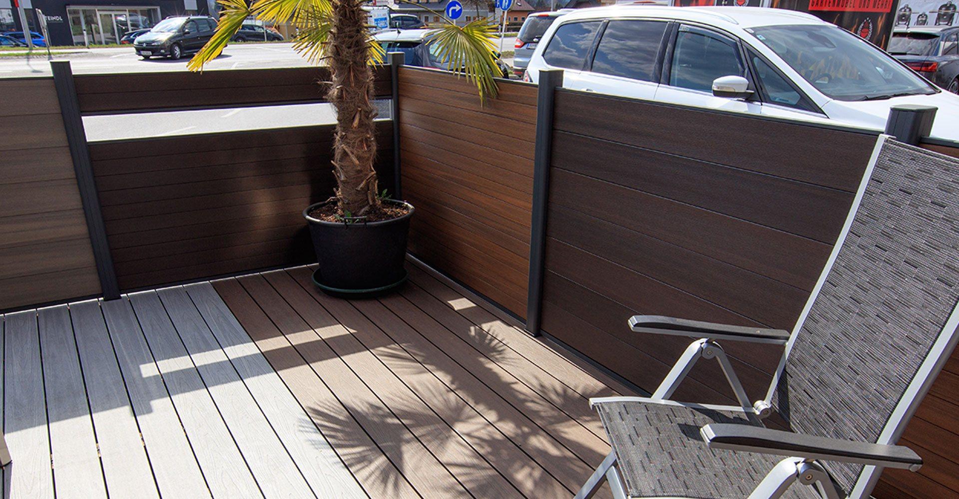 美新塑木戶外圍欄