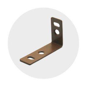 塑木格柵-固定不銹鋼角鐵