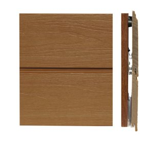 塑木牆板剖面