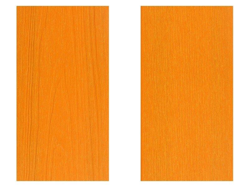 橘黃色塑木