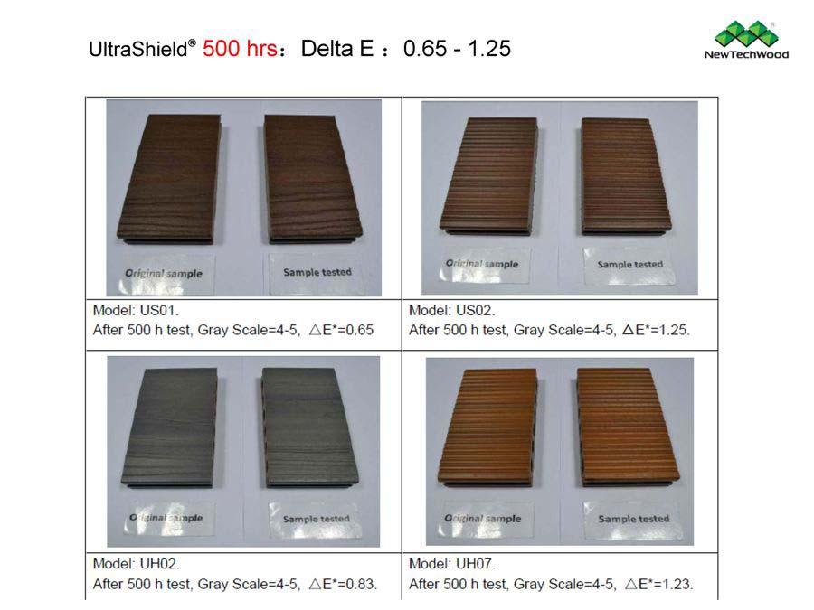 塑木抗UV測試-500小時
