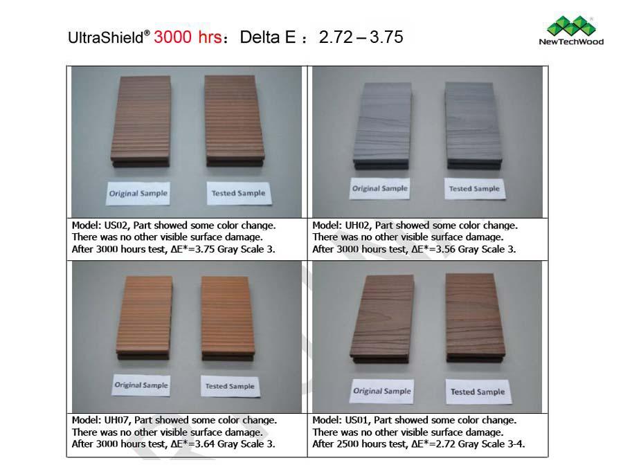 塑木抗UV測試-3000小時