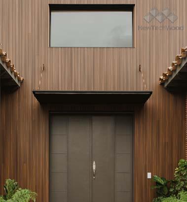 美新塑木-歐式格柵牆板