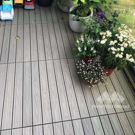 塑木地板陽臺美化