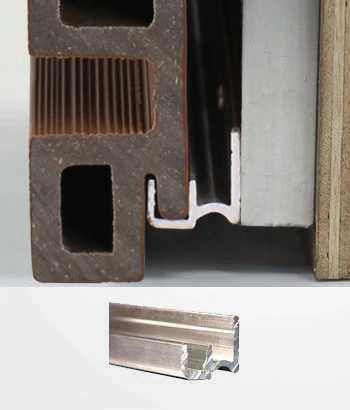 塑木牆板配件-起步件 AW02