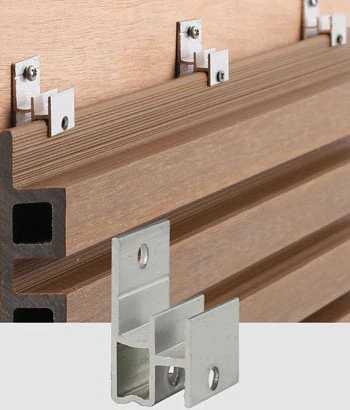 塑木牆板配件-固定卡件 AW08