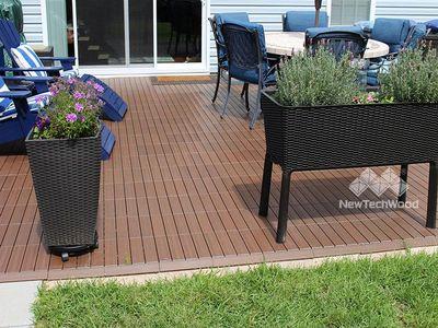 美新塑木-紫檀-木地板