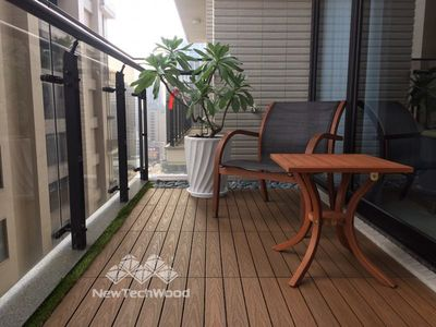 美新塑木-陽台-木地板
