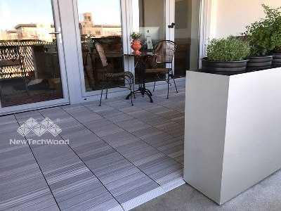 美新塑木-白色地板